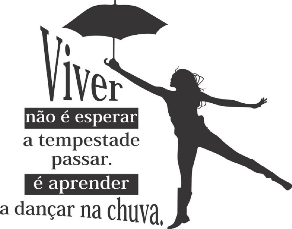 Adesivo Decorativo de Parede Frase Viver Não É Esperar... no Elo7 ...