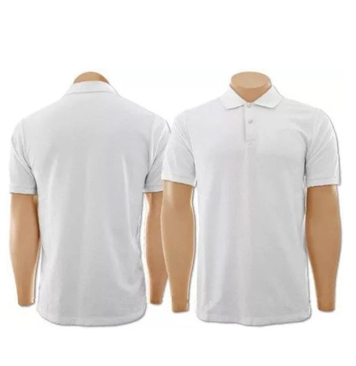 71096e1fa2 Kit com 5 Camisetas Gola Polo Branca Masculina no Elo7
