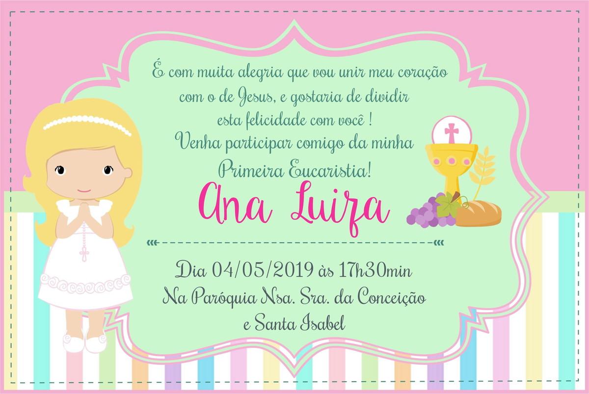 Convite Primeira Eucaristia