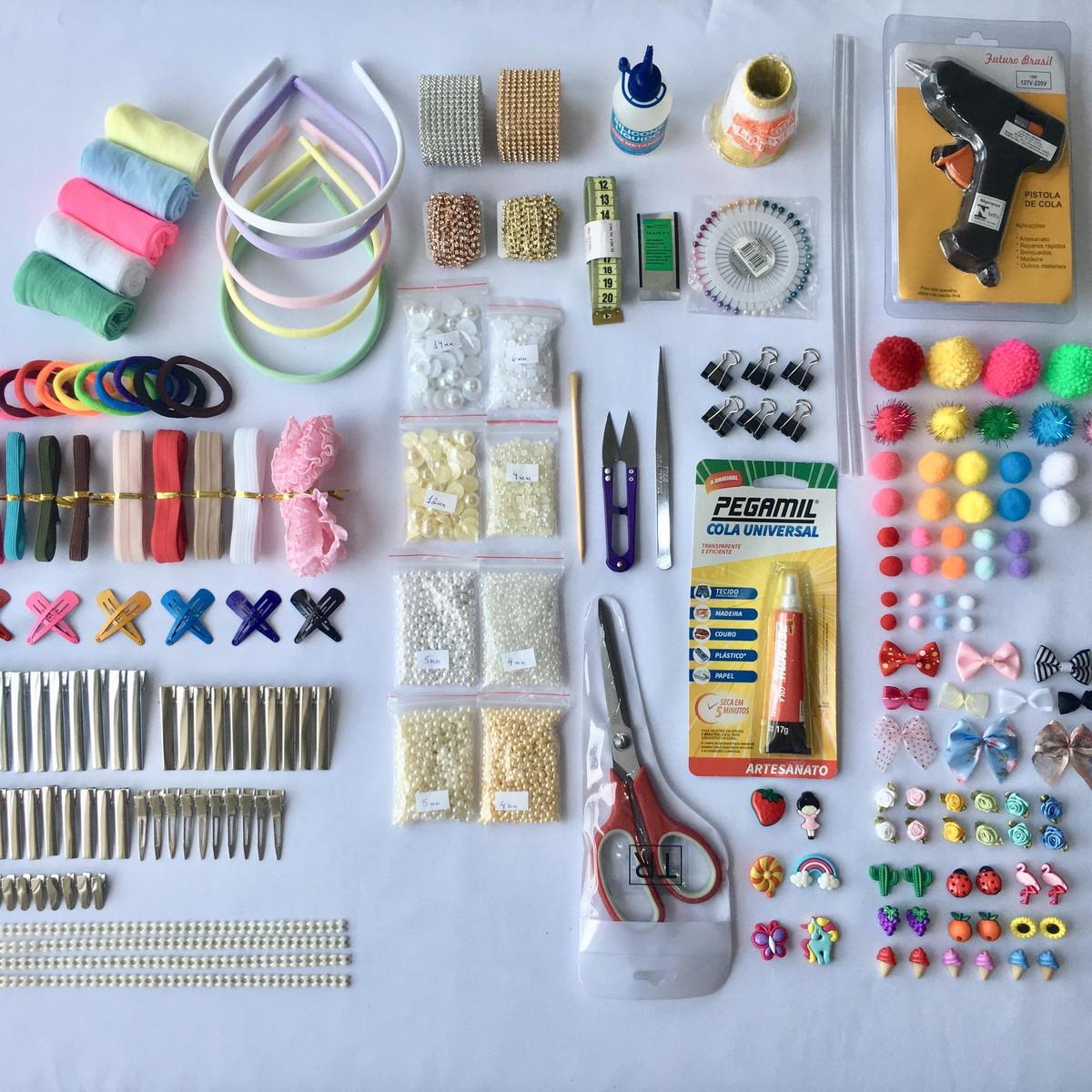 3780d06b92 Kit Ferramentas e Materiais para fazer Laços e Tiaras no Elo7 ...