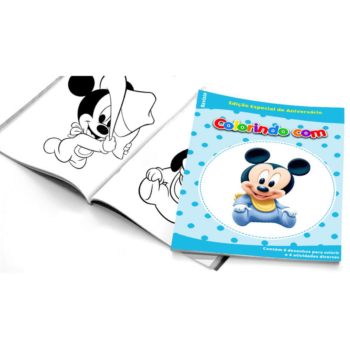 5 Cadernos De Colorir Mickey Baby No Elo7 Belas Cores