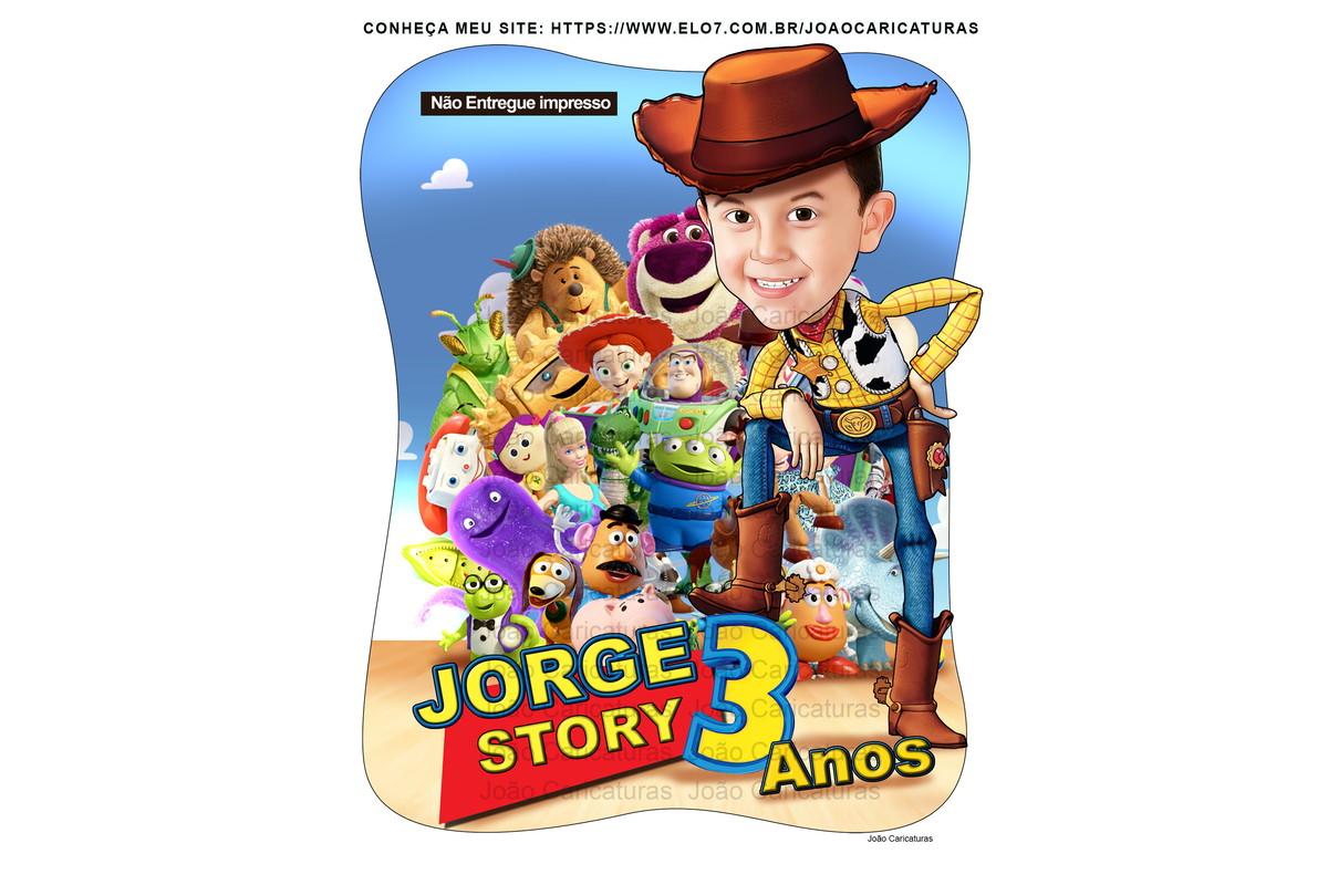 Linda Caricatura Crianca Menino Woody Toy Story Brinquedos No Elo7