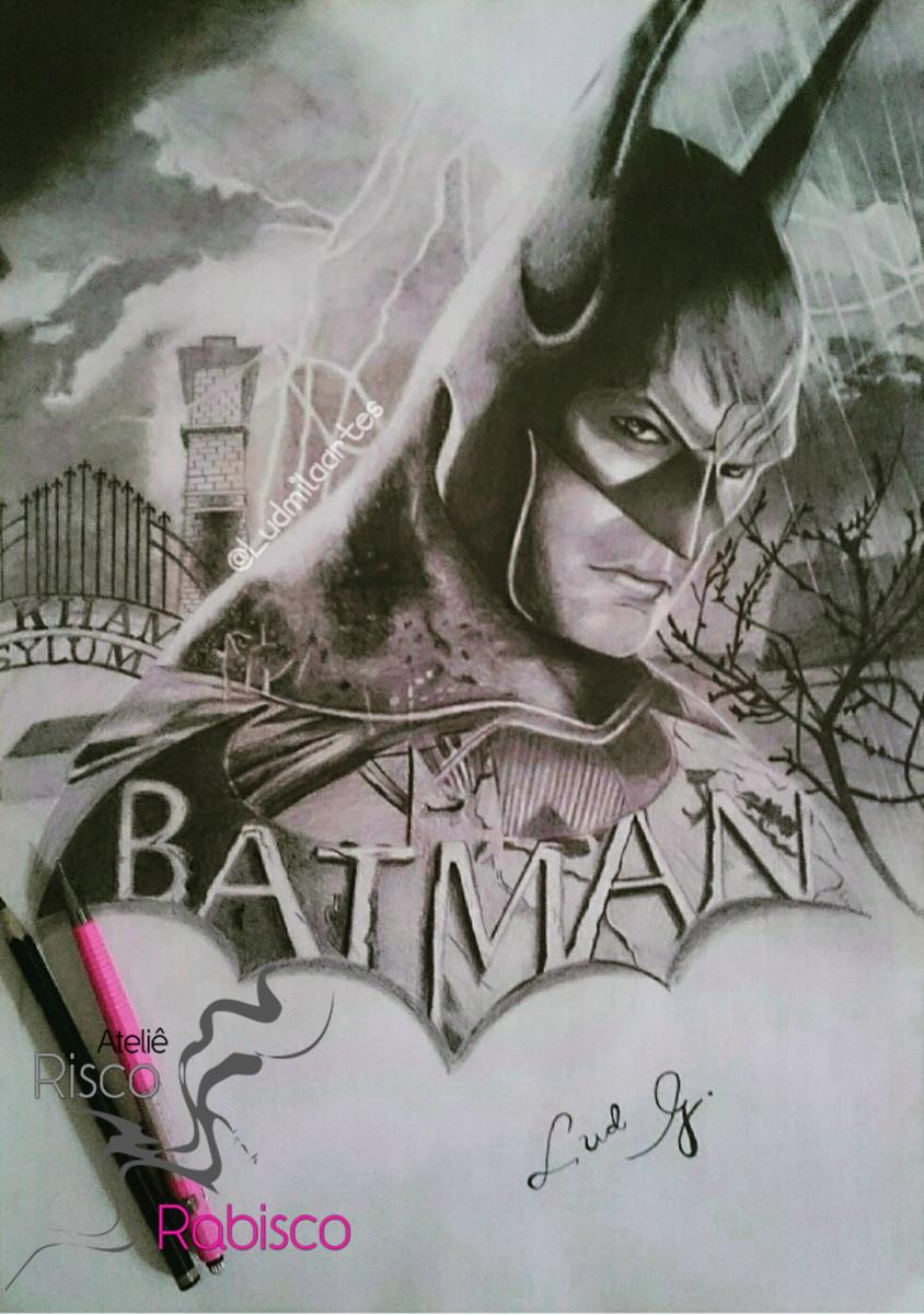 Desenho Realista Batman No Elo7 Riscoerabiscoatelie F04437
