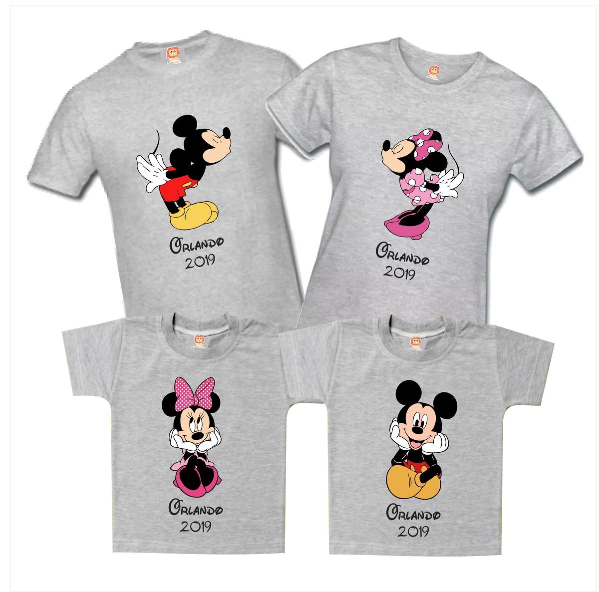 promoción más de moda estilos frescos Camisetas Personalizadas Disney Familia