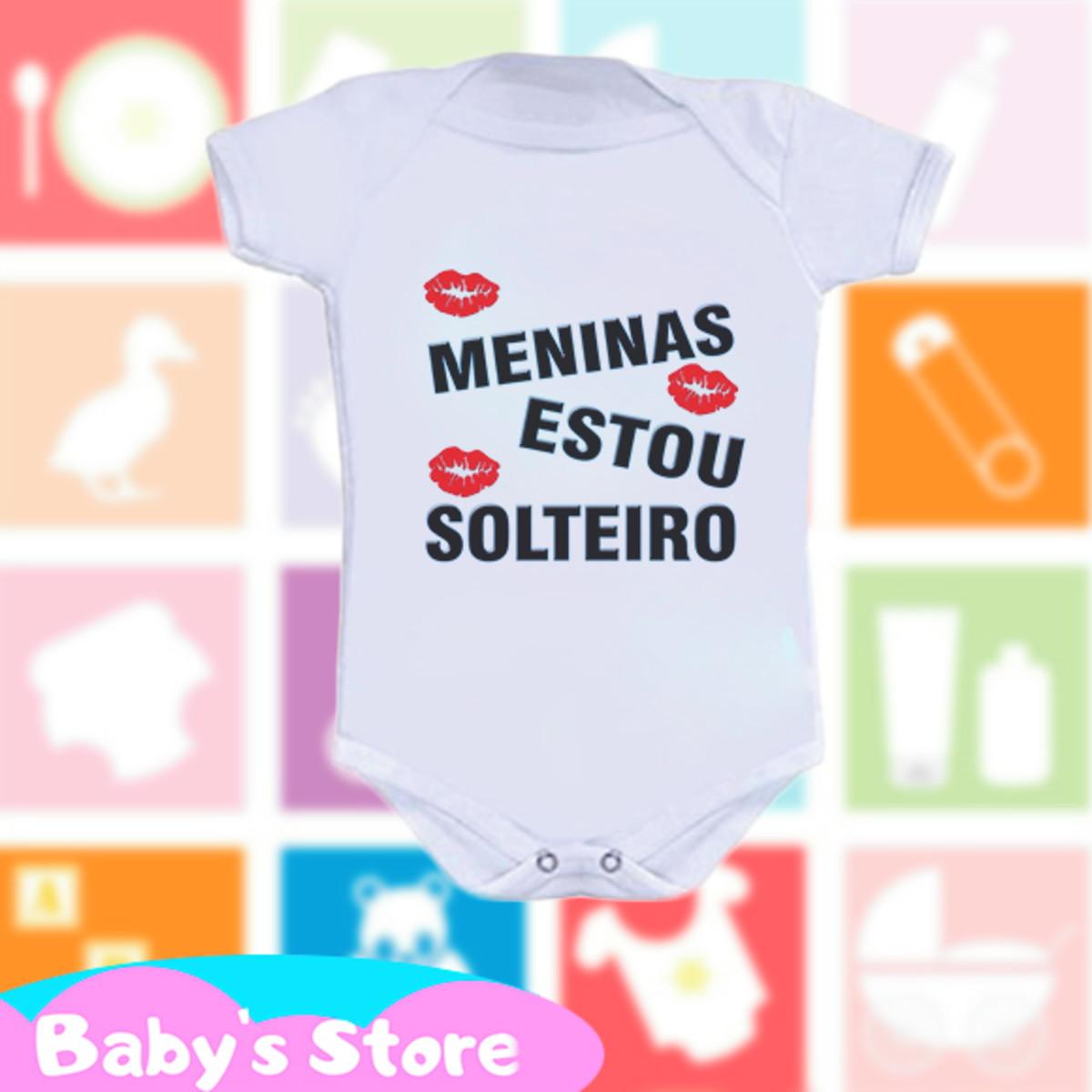 56a73684f555a Body infantil com frase Meninas estou solteiro no Elo7 | Baby's ...