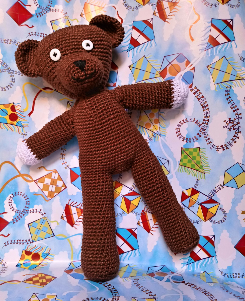 Oso Teddy Mr. Bean amigurumi. Patrón de Blue Rabbit Crochet ...   1200x977