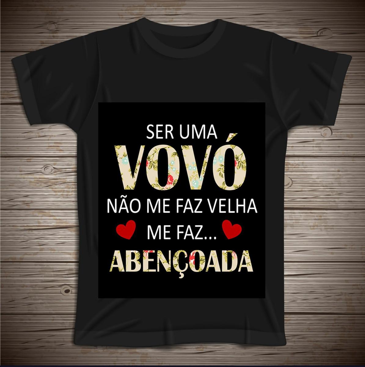 d039d7b5b Camiseta Ser Uma Vovó Não Me Faz Velha no Elo7 | Personalizados da ...
