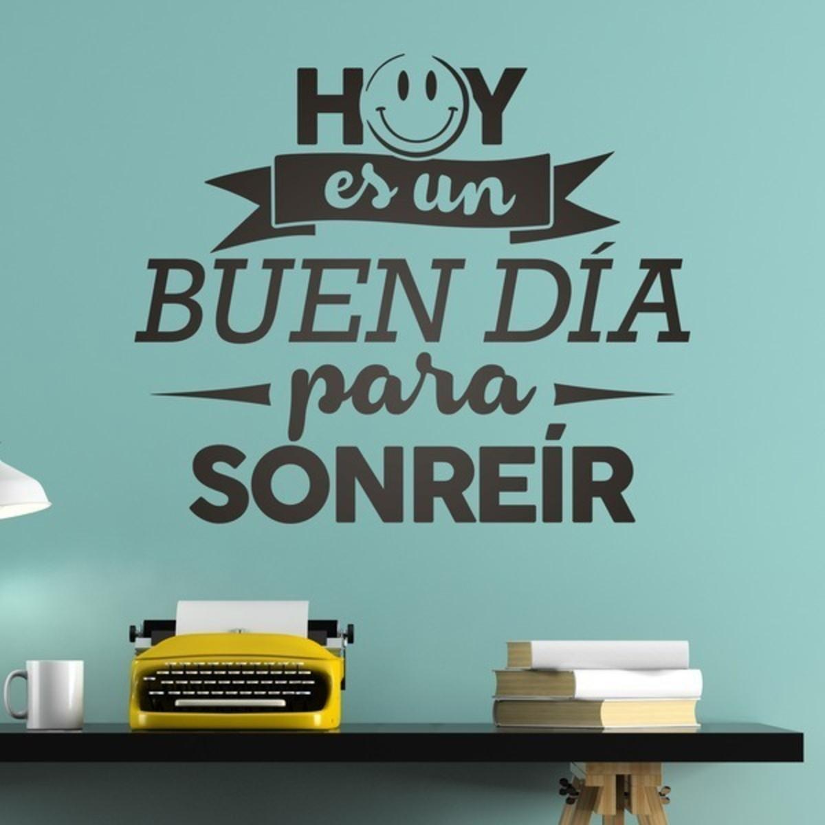 Adesivo Parede Decorativo Espanhol Hoy Es Un Buen Día 110x91