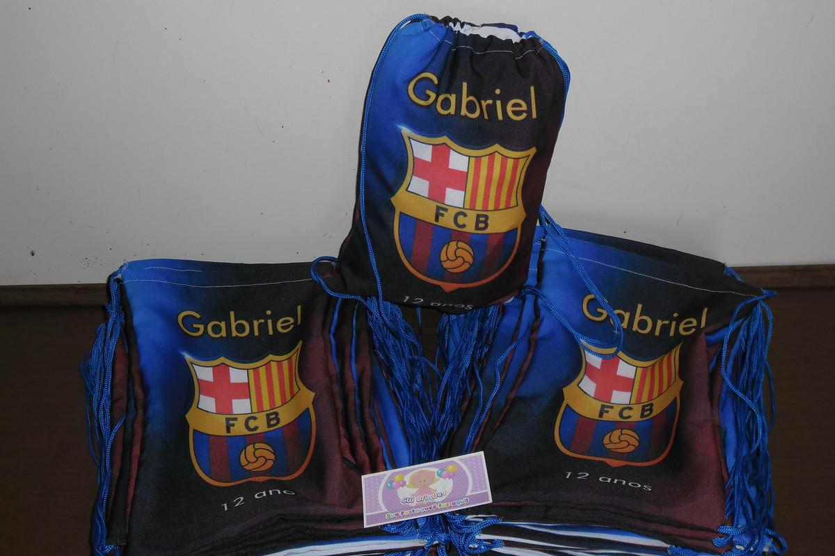 dcf4bb970 Mochilinha Personalizada Futebol Barcelona no Elo7