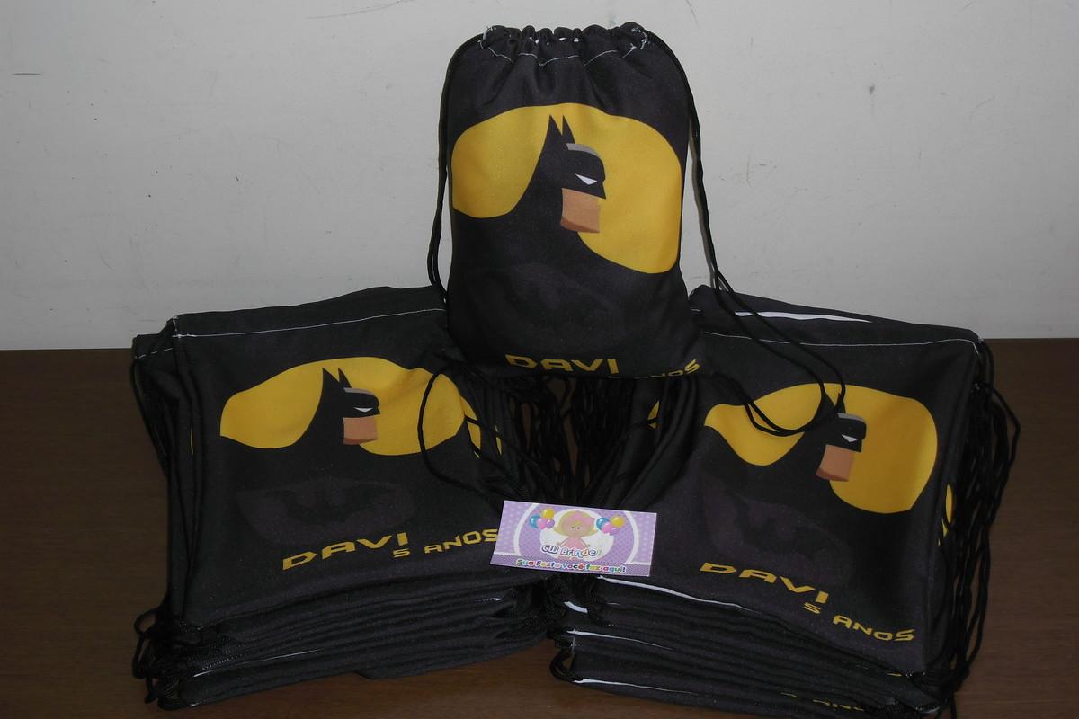 aaec13c87 Mochilinha Personalizada Heróis Batman no Elo7