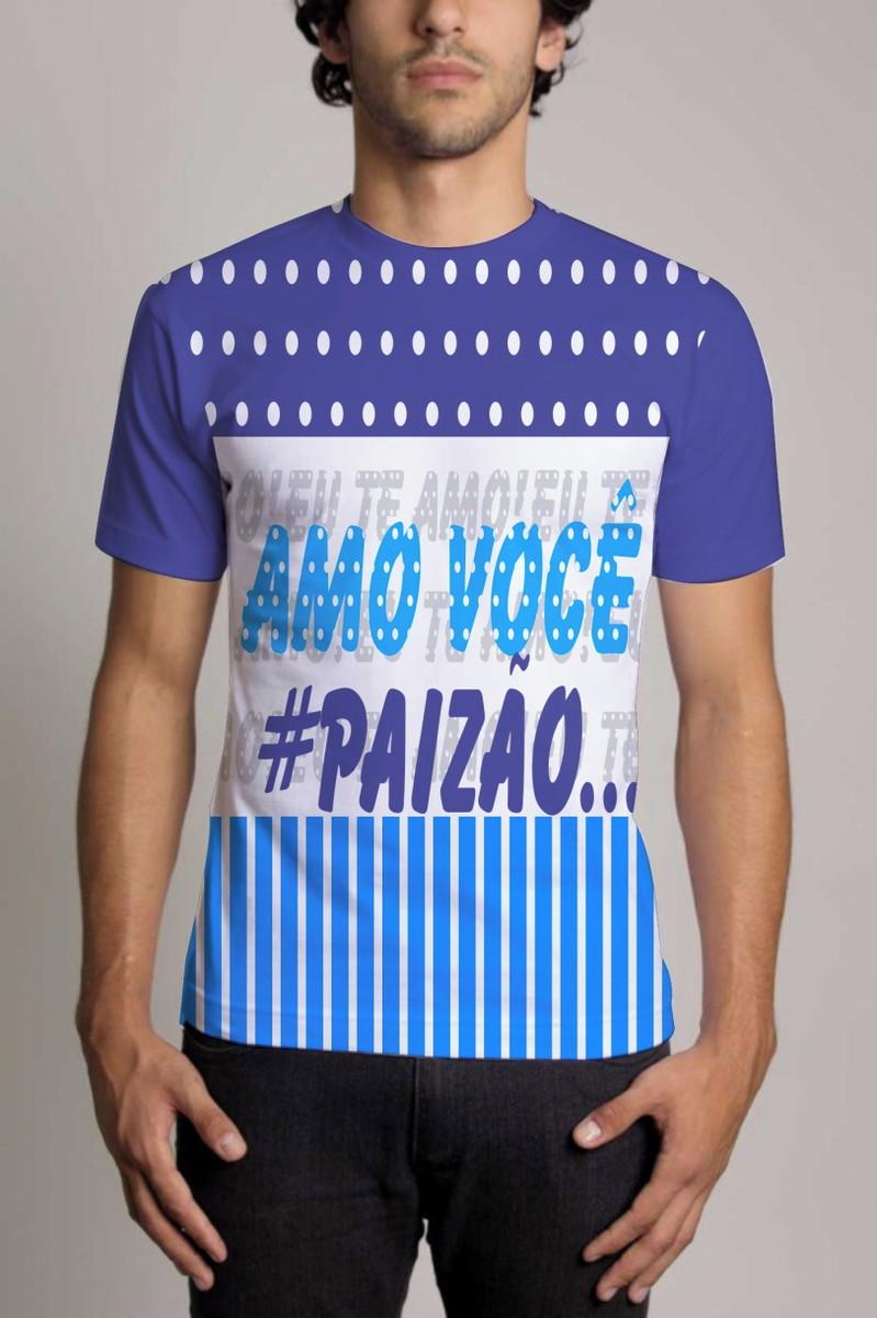 b9a76b5f2 Camisa Personalizada Dia Dos Pais Amo Você Paizão no Elo7