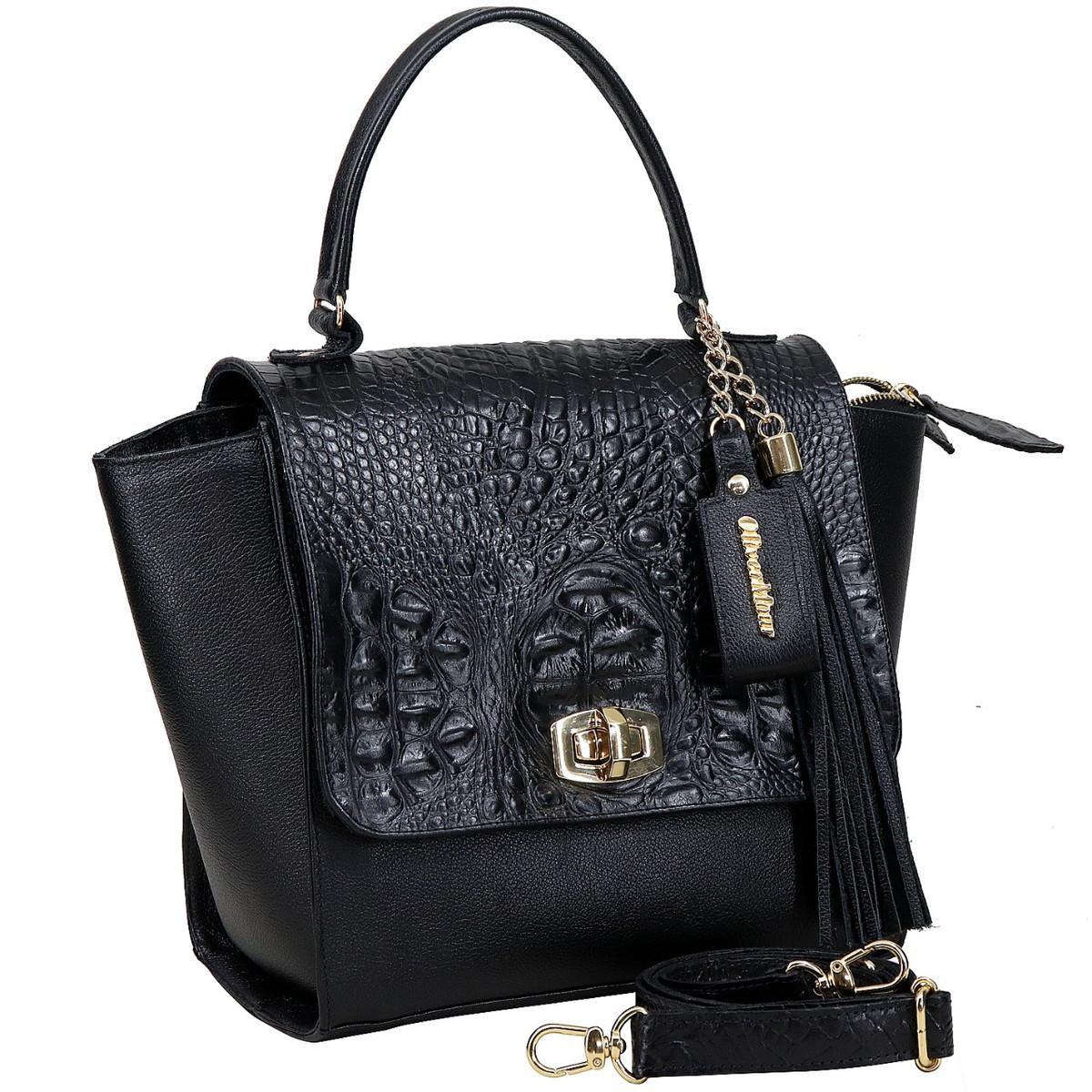 099fa7d18a bolsa feminina couro legítimo alça de mão e alça transversal no Elo7 ...