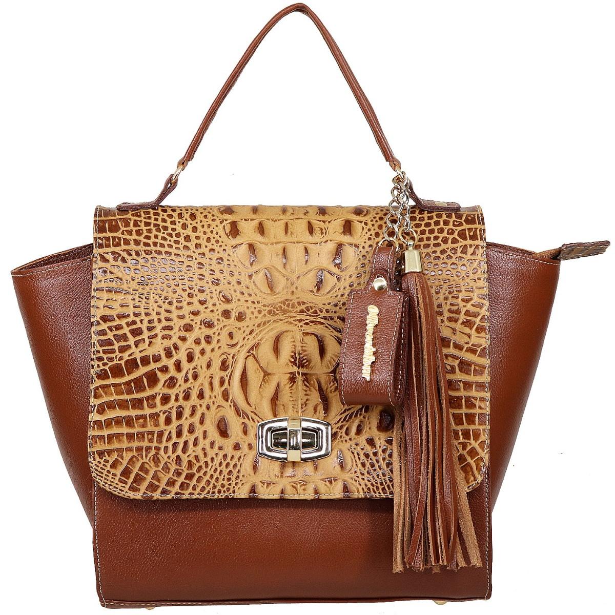 3f396622a9 bolsa feminina em couro legítimo cor caramelo no Elo7