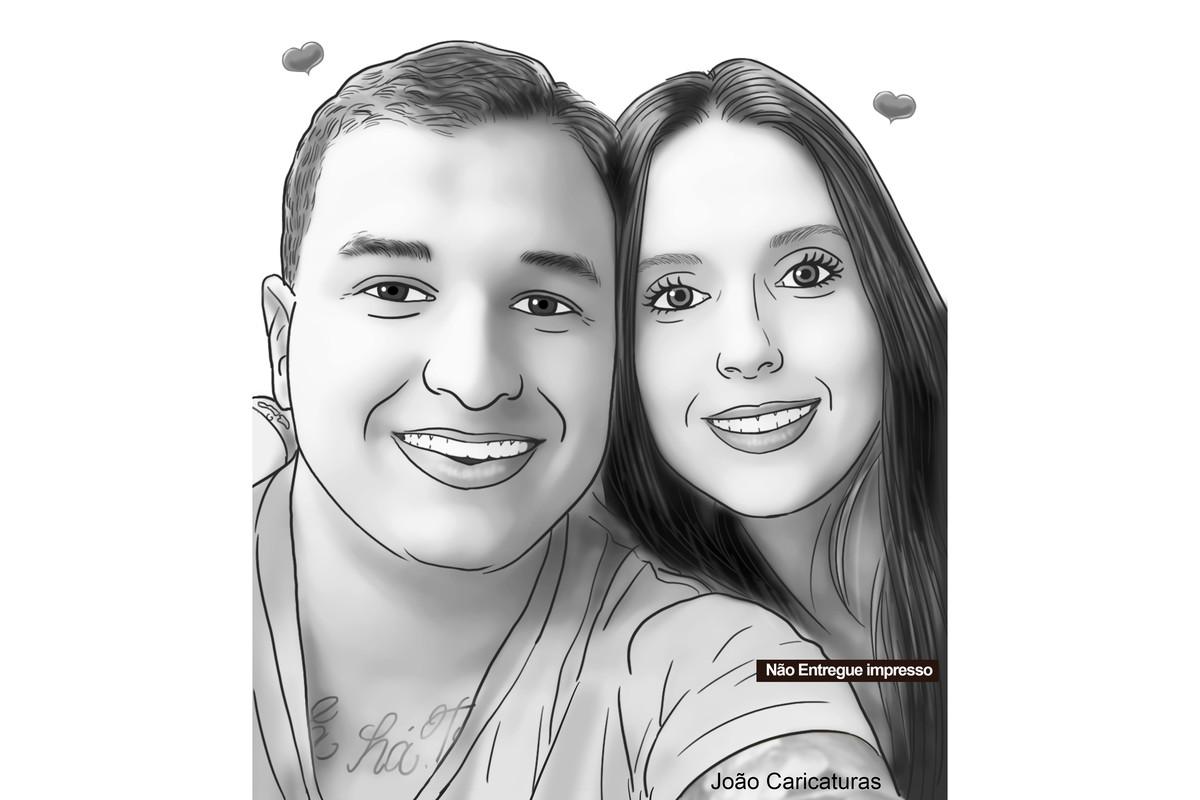 Lindo Desenho Casal Namorados Crush Meios Tons De Cinza No Elo7