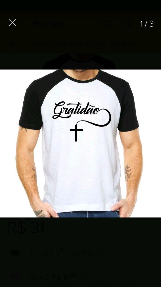 c5b1cb10cfd Kit 10 camisetas gospel personalizadas