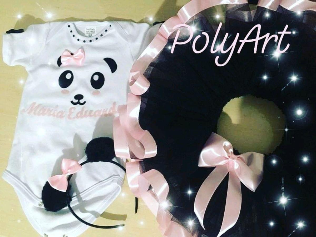 Roupa De Aniversario Ursinho Panda No Elo7 Body Infantil Personalizado Da Polyart F0fb26