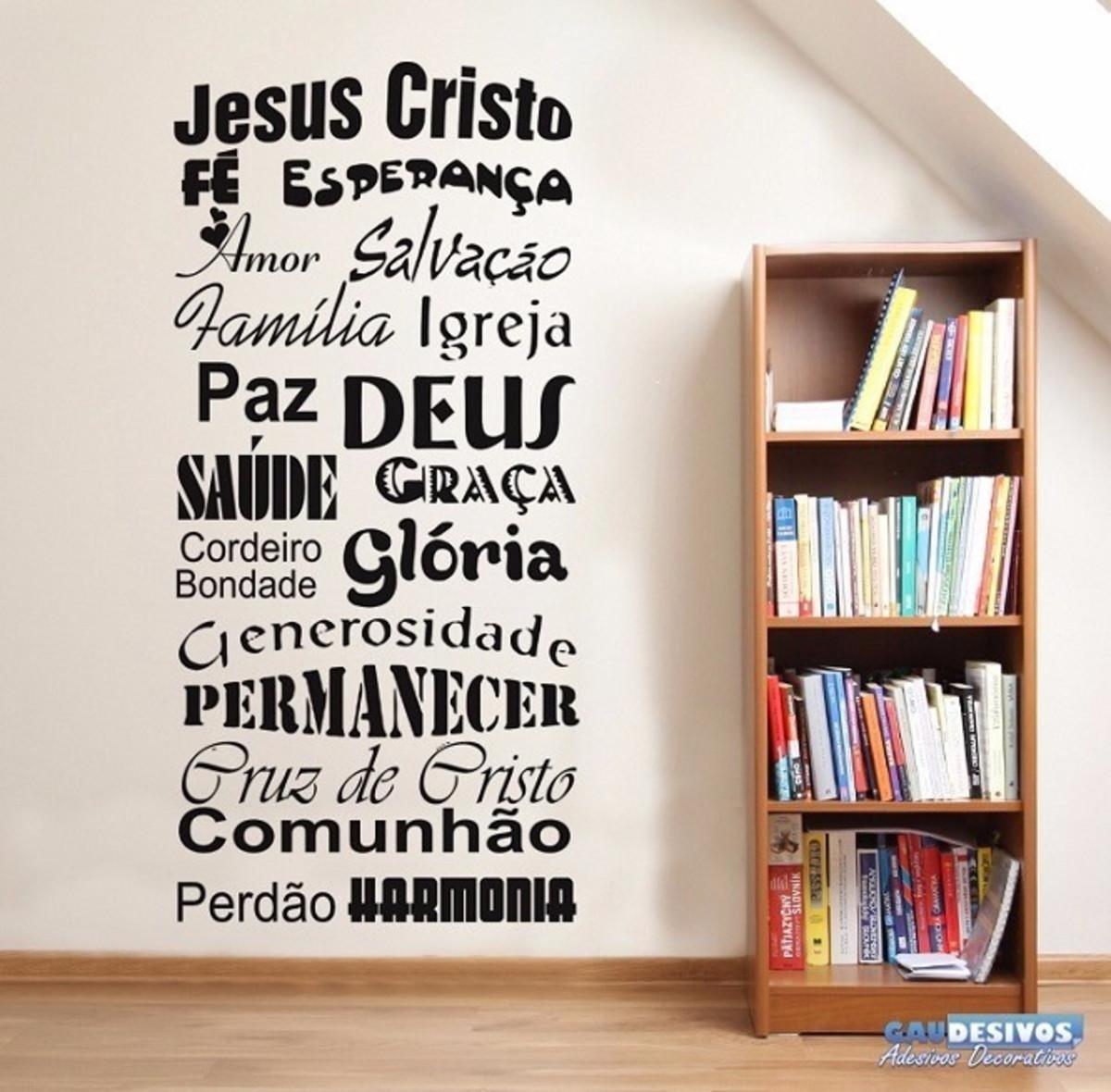 Adesivo Parede Frase Motivacional Fé Em Deus