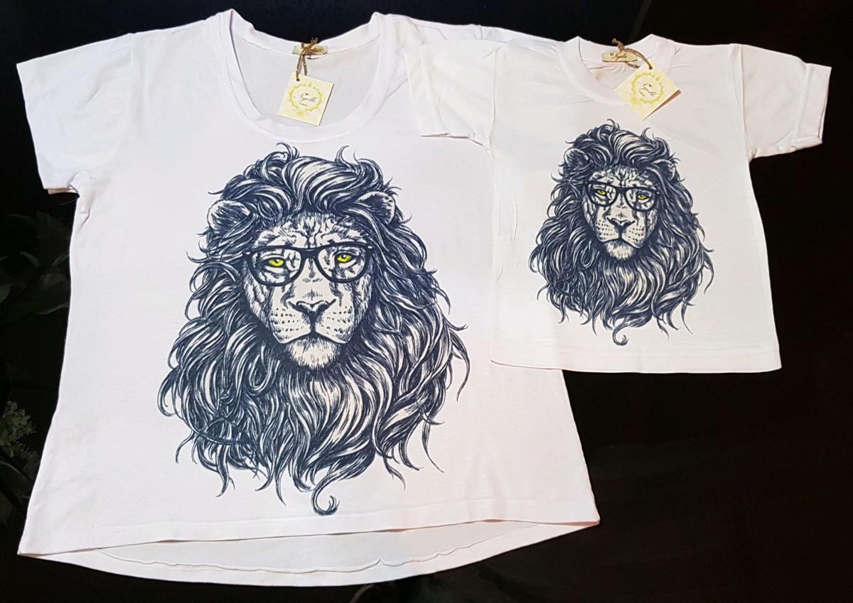 9ec4cb55d Camiseta Feminina - Tal Mãe Tal Filho - Leão de Óculos no Elo7 ...