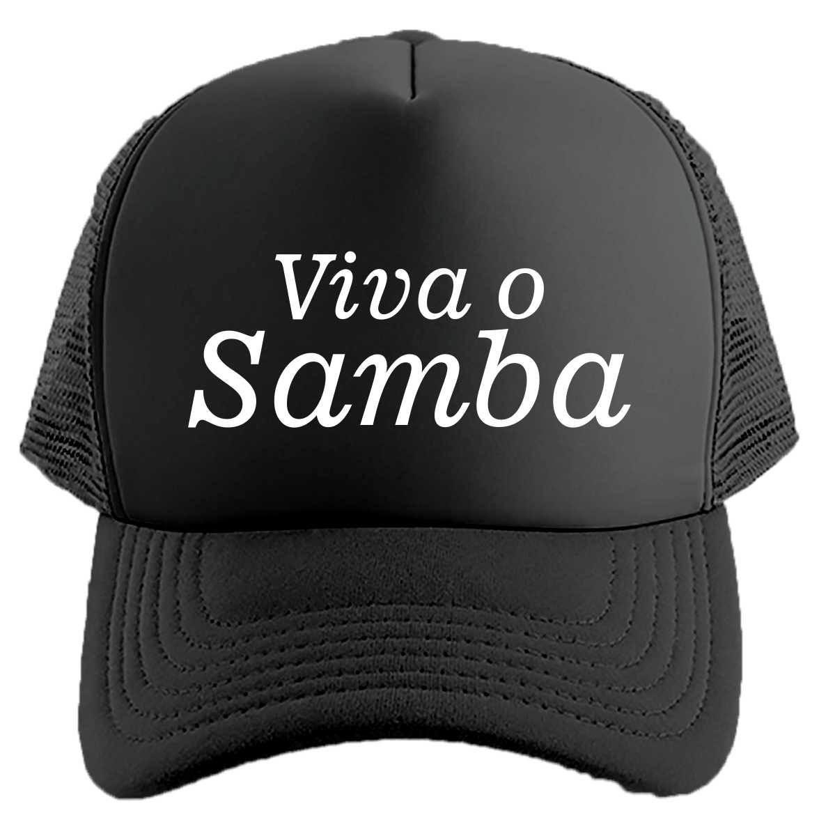 c475990d41 Boné Viva o Samba Trucker Aba Curva Telinha + Brinde no Elo7 ...