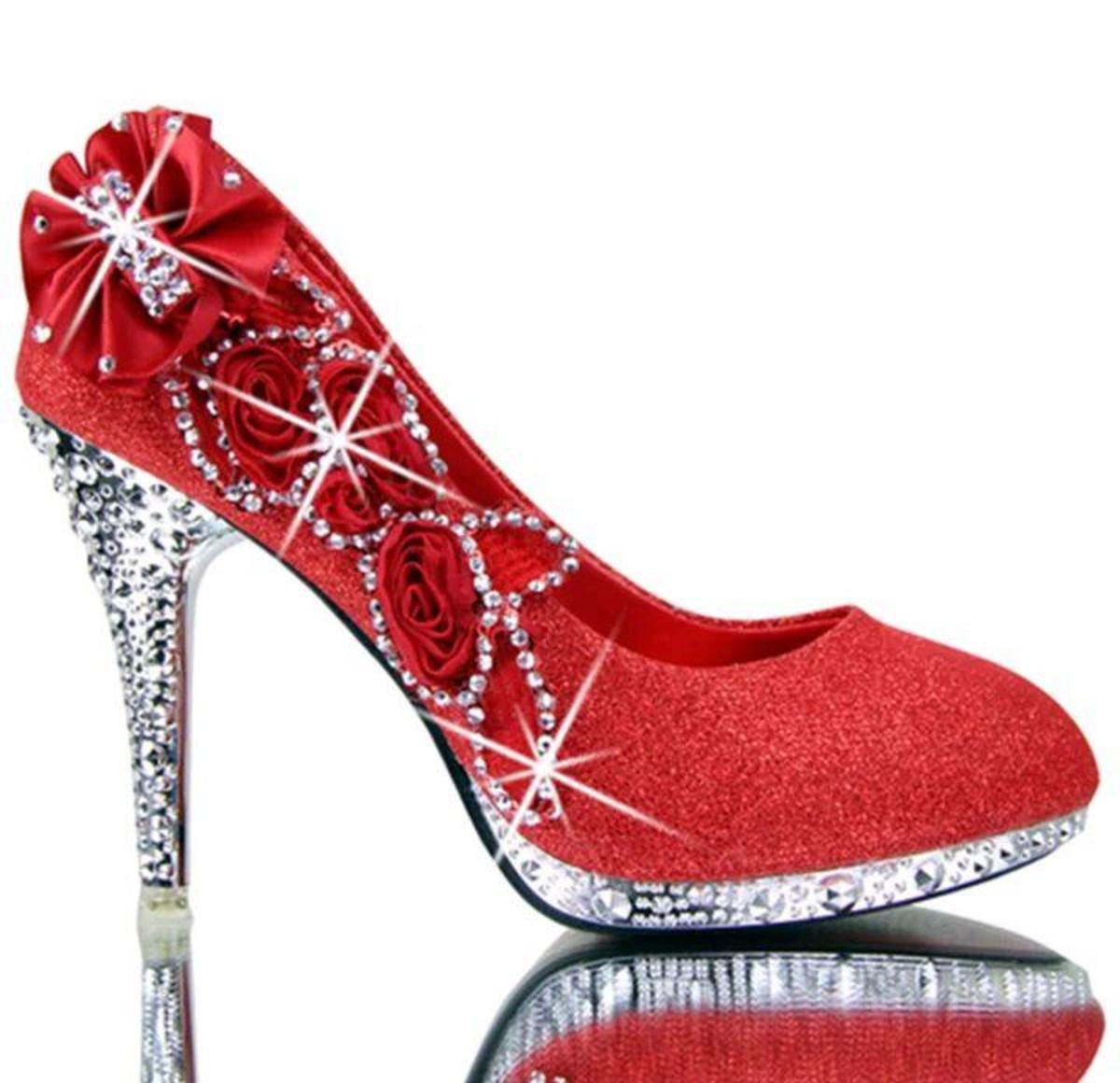 5d8ba04d1 Sapato de Noiva vermelho guipir personalizado no Elo7 | Cantinho ...