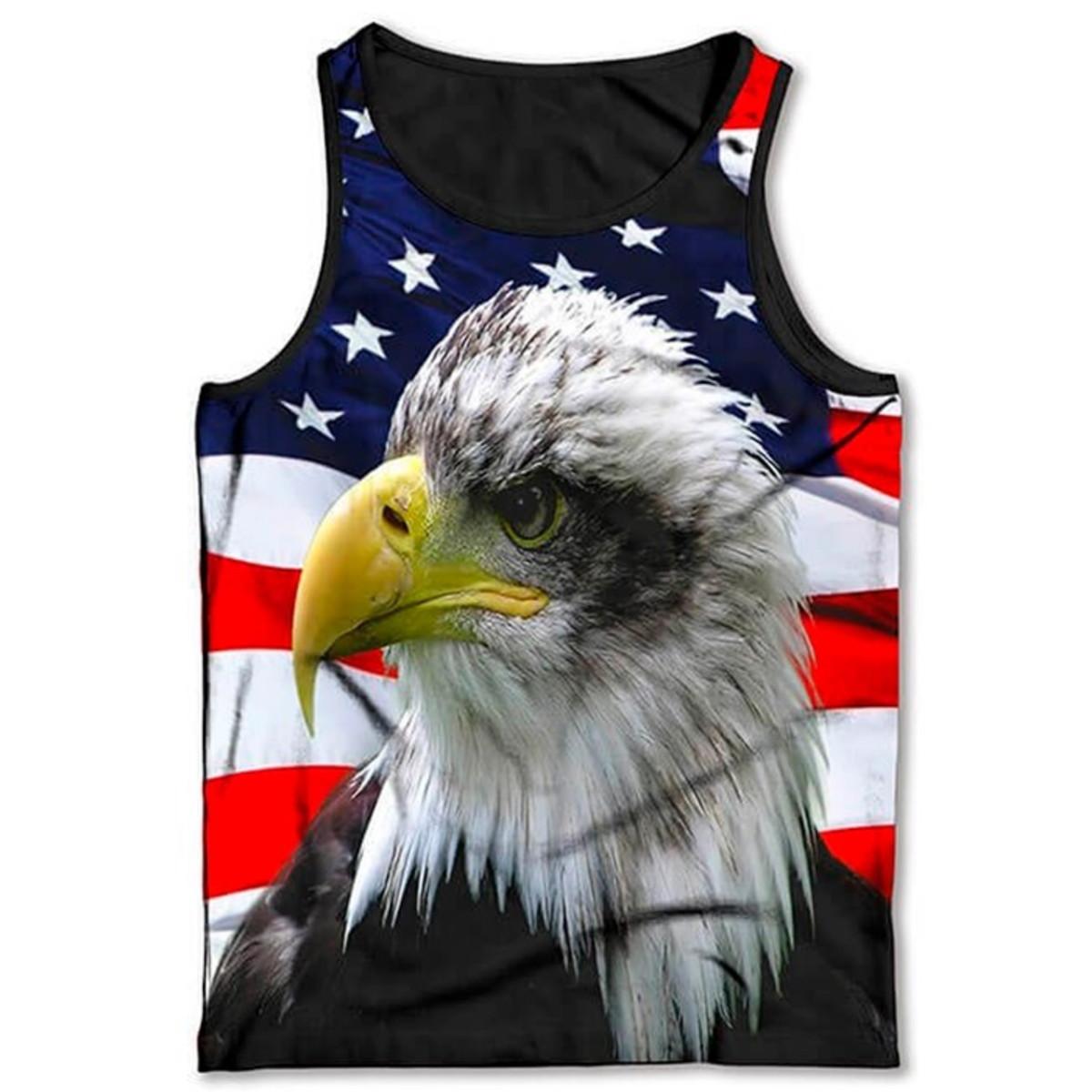 cdeb5a1bd9 Regata Bandeira Dos Estados Unidos Águia no Elo7