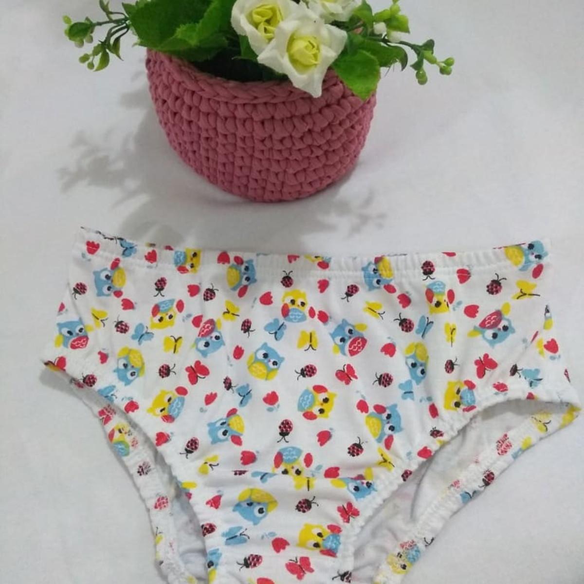 1dcdf8743 Calcinha infantil em malha 100% algodão no Elo7