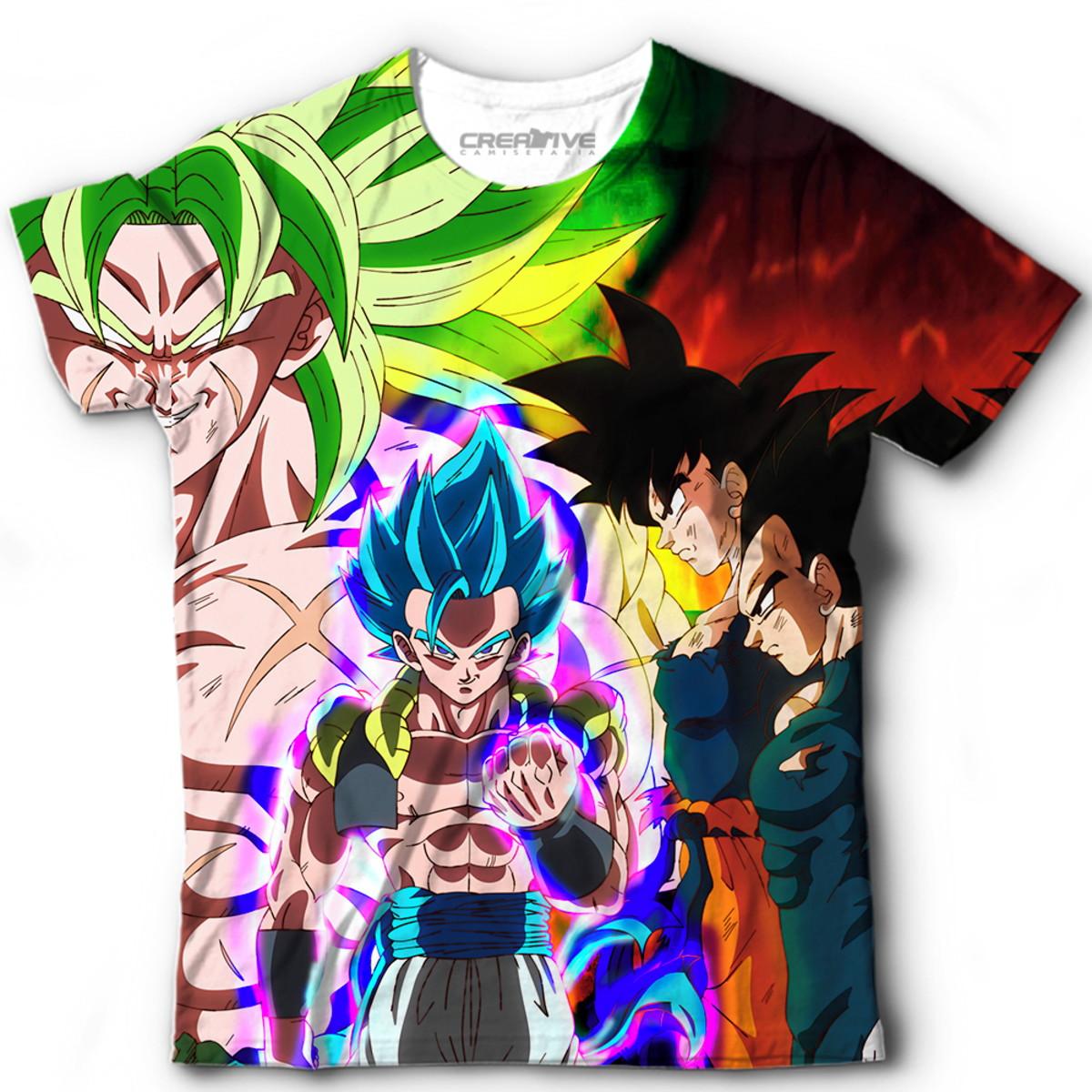 74859b7f98 Camiseta Blusa Dragon Ball Super Vegetto Gogeta SSJ no Elo7 ...
