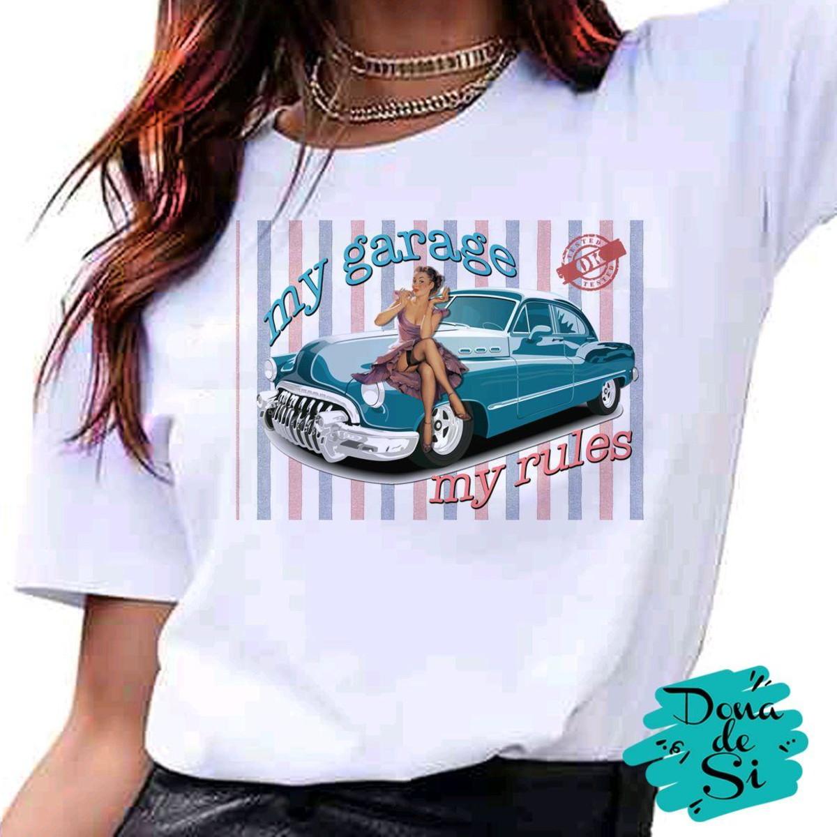 b1e321a964 Camiseta pin up e carro antigo vintage fashion tumblr no Elo7
