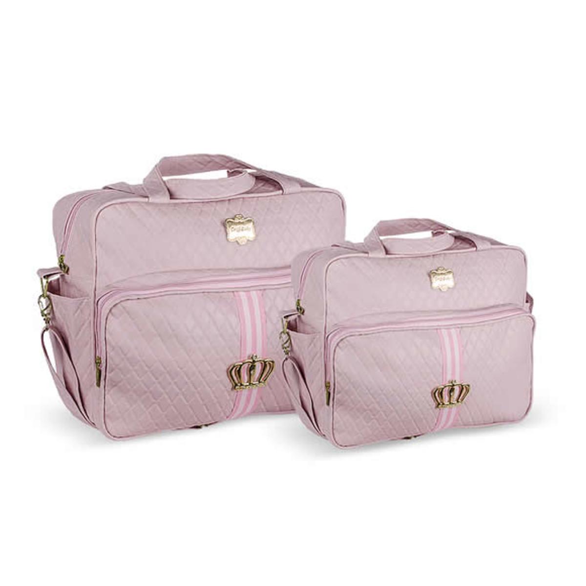 3dbb2c60d Kit Bolsa Maternidade Luxo Bebe Menina Rosa 3009-10 no Elo7 | Amor ...
