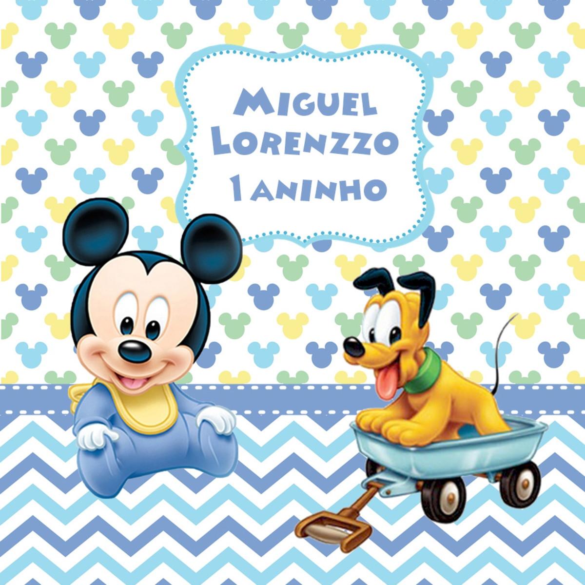 Adesivo Sacolinha Mickey Baby Personalizado No Elo7 Hgo