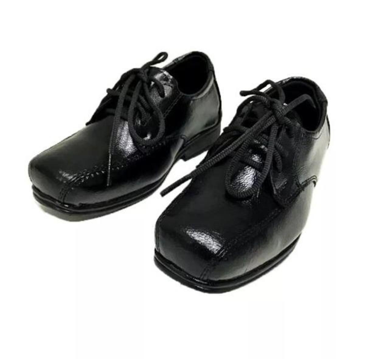 49bbdd10b3 Sapato Social Infantil Masculino C Cadarço Couro Sintético no Elo7 ...