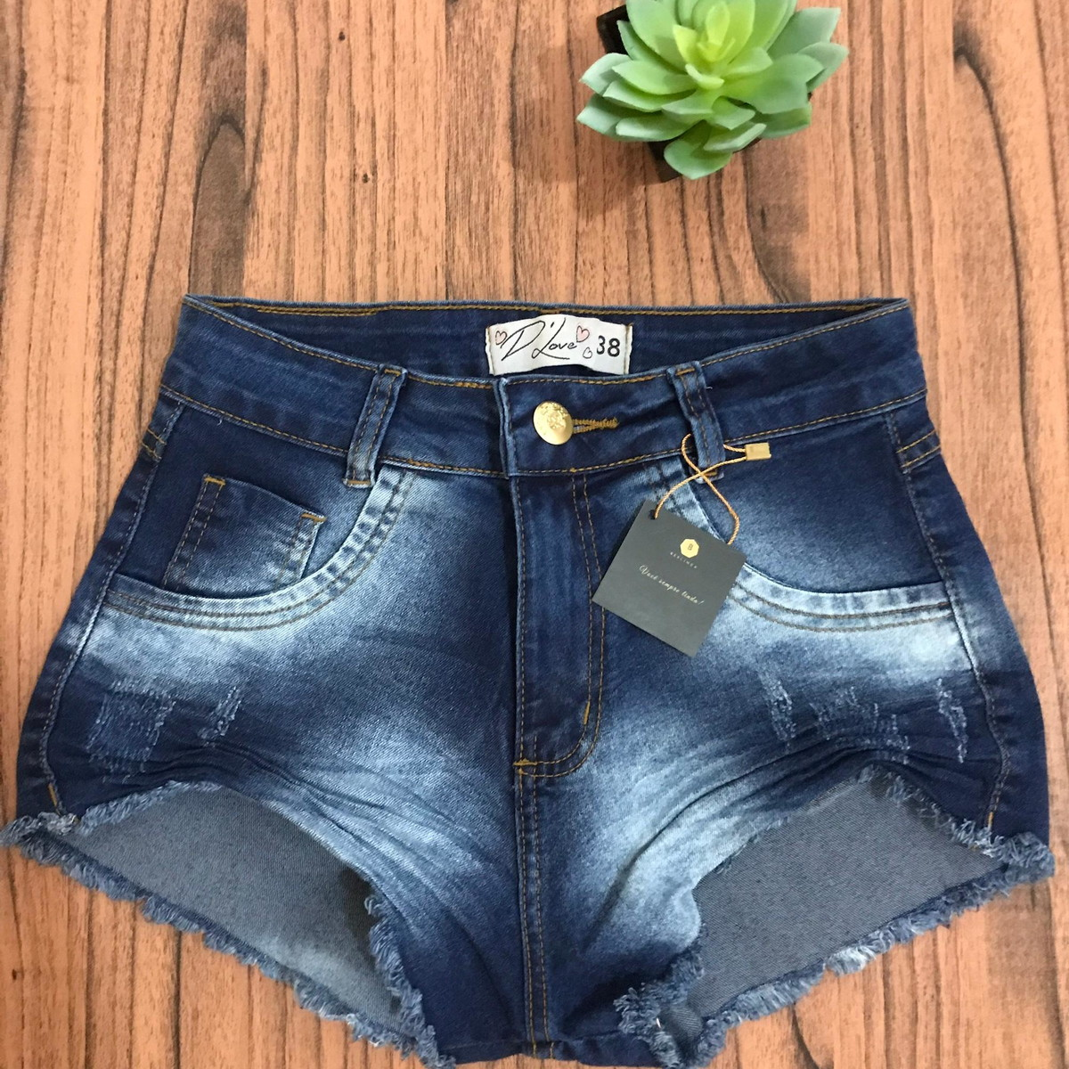 779c5f311 SHORT JEANS FEMININO DESTROYED HOT PANTS no Elo7 | Loja Berlinda ...