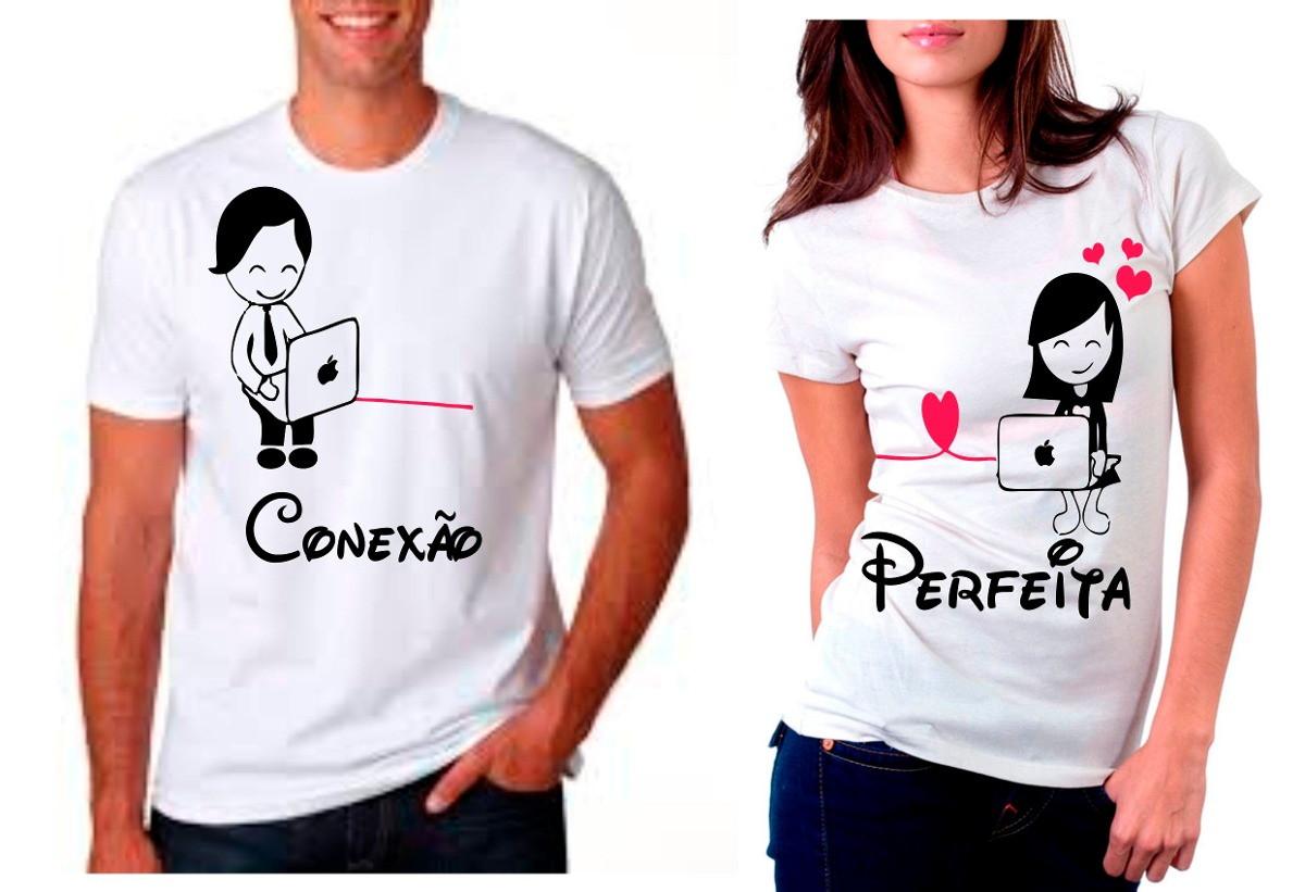 3375eef6ac2ae kit camisetas namorados conexão perfeita no Elo7 | Você Impresso  personalizados (F23C00)