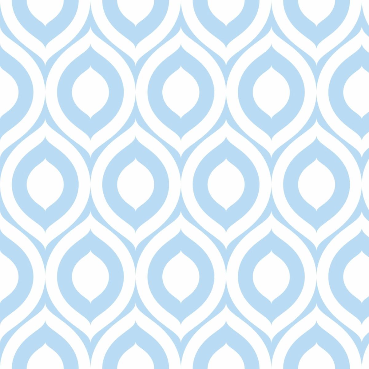 Papel De Parede Geometrico Azul Moderno Adesivo 10m Ppg287