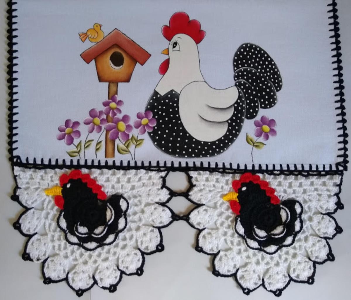 Pano De Prato De Galinha No Elo7 Leila Croche E Pintura F28838