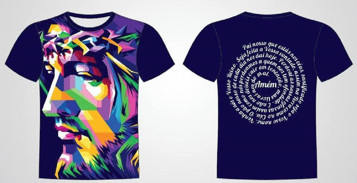 bd128d880 Camisa Personalizada Jesus Cristo Pai Nosso no Elo7