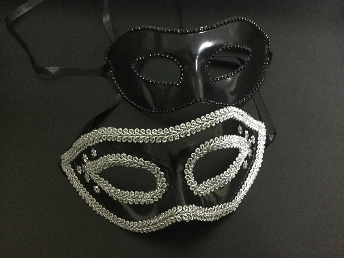 313e40cbe0034d Máscara Masculina cor preta e Máscara Feminina cor preta