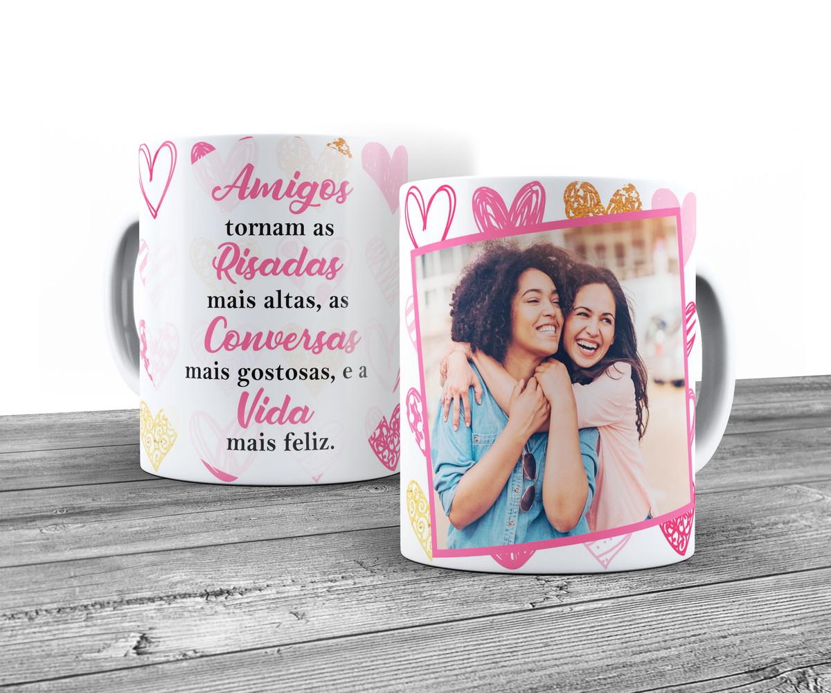 Caneca Amiga Com Foto E Frase Sobre Amizade