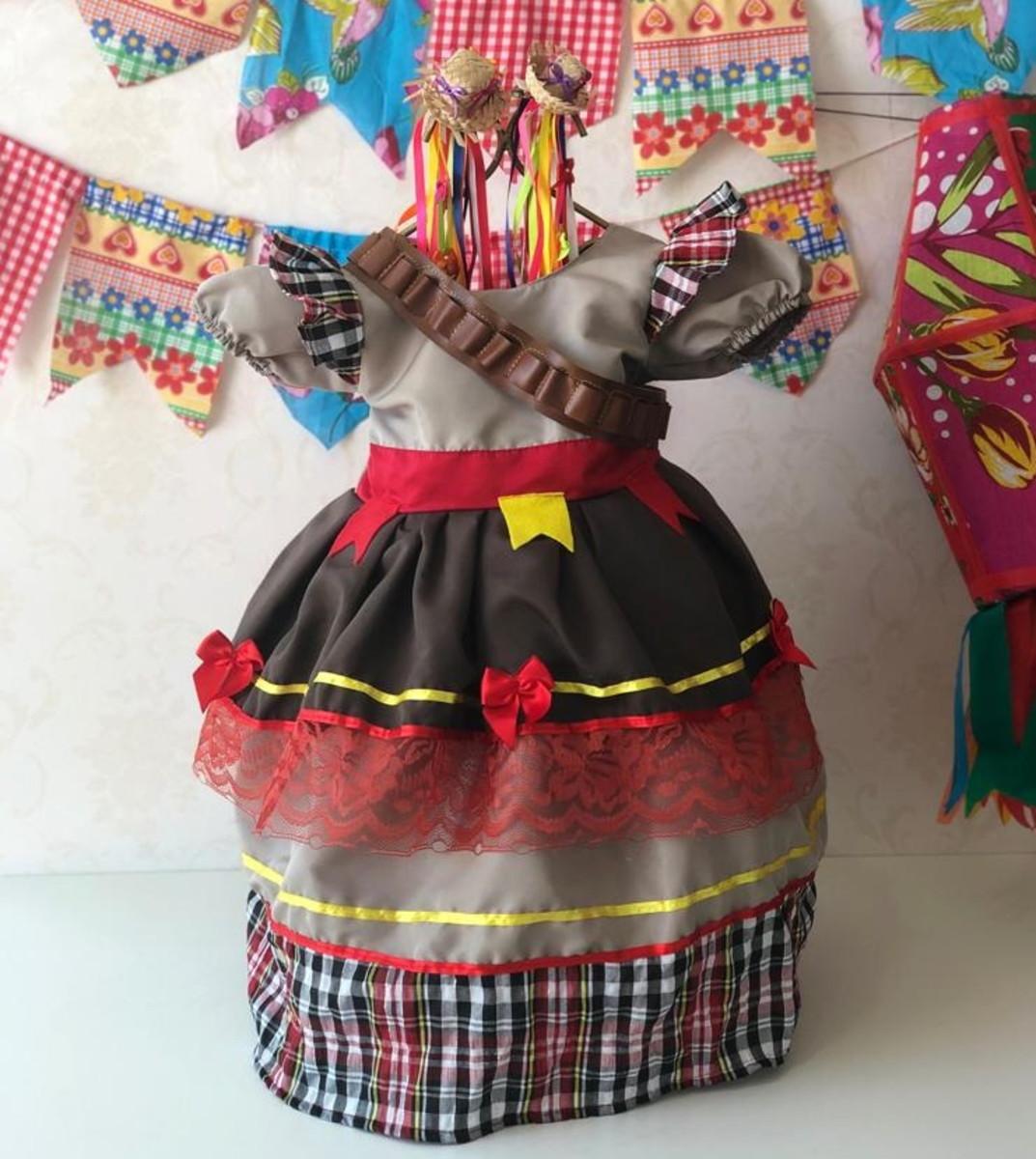 71a28c8264 Vestido caipira festa junina Maria Bonita só tam baby 4a8mes no Elo7 ...