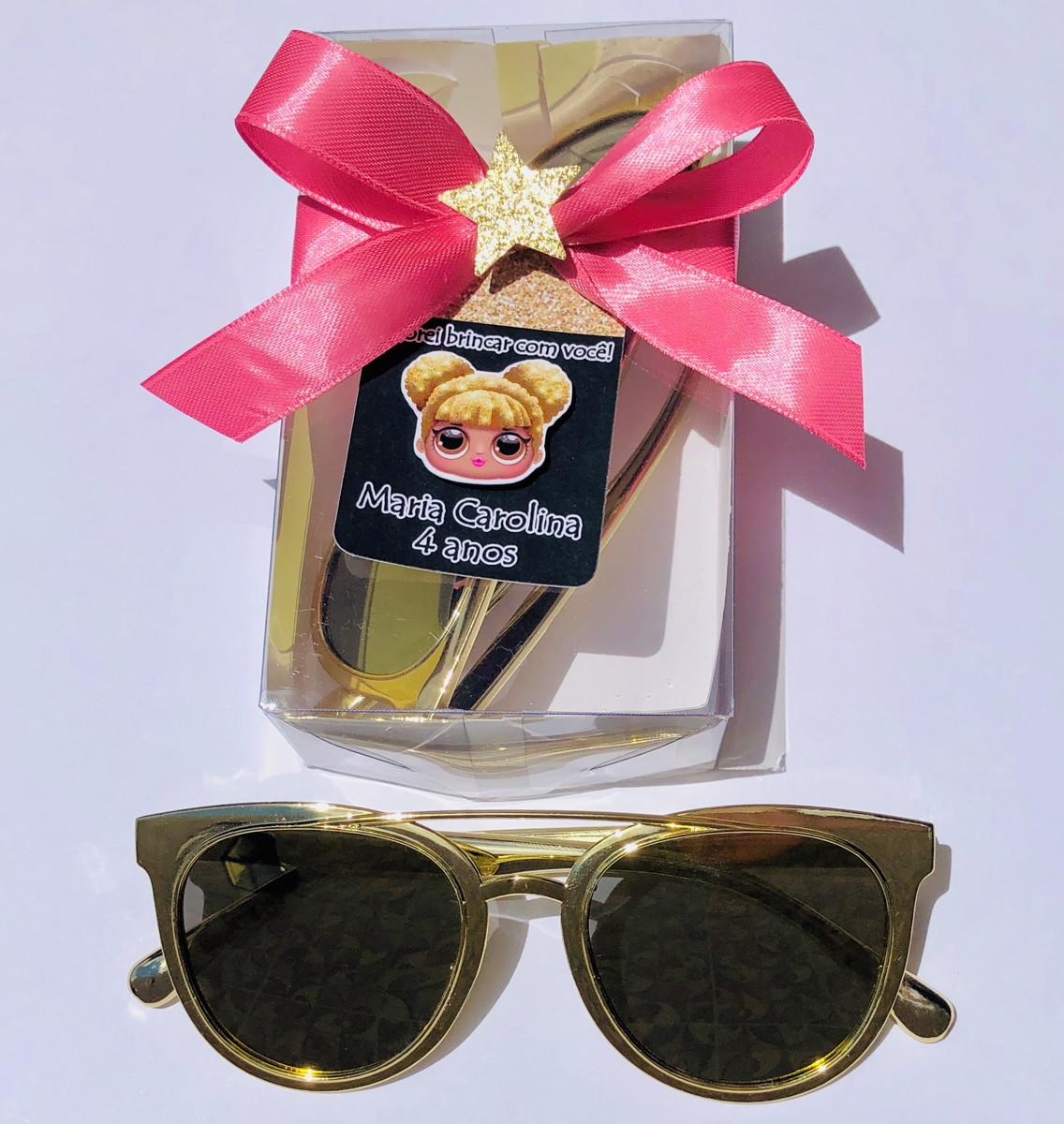 c7dcc1d16 Lembrança óculos escuros infantil festa Lol no Elo7   rakiroze (F33BDD)