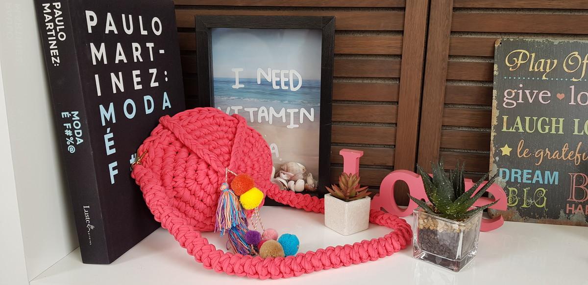 2b5d3343a Bolsa de crochê redonda BOHO em fio de malha no Elo7 | Heart Made ...