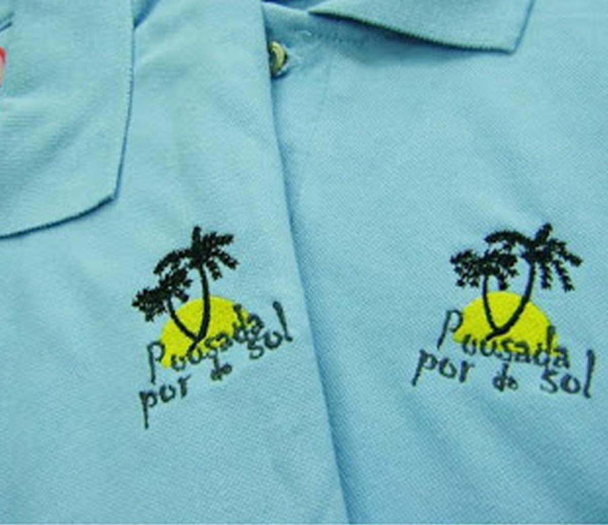 0c106ba368 Camiseta Polo Bordada Com Sua Logo no Elo7
