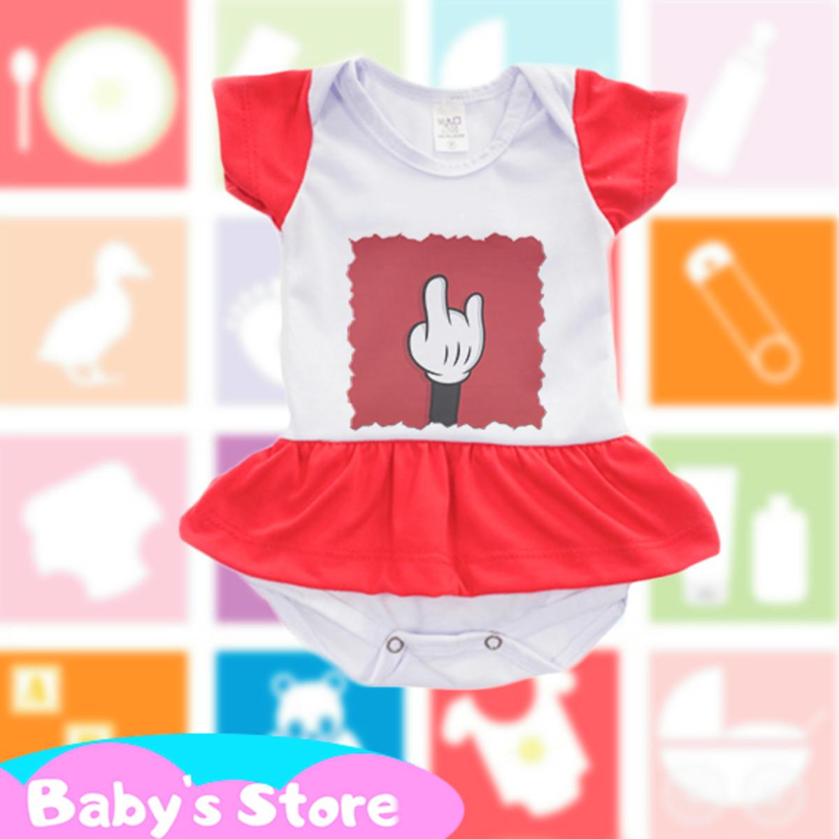 Body Vestido Infantil Mickey Disney No Elo7 Baby S Store F45278