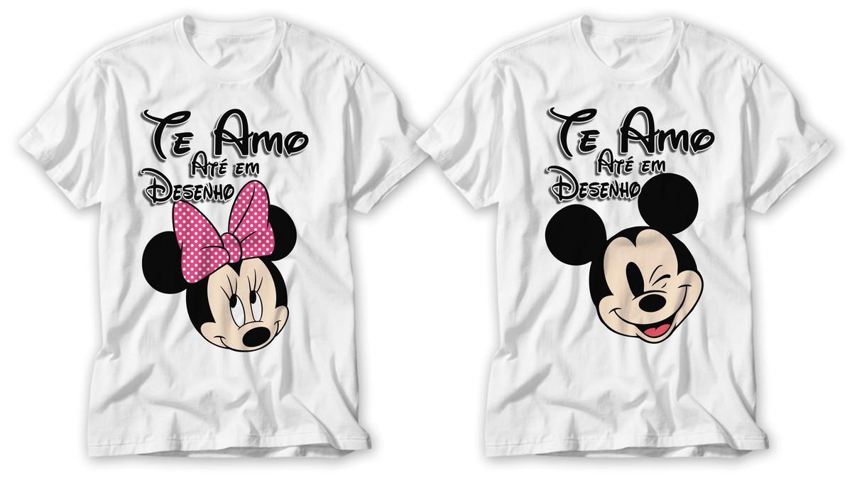 Kit Camisetas Casal Dia Dos Namorados Te Amo Ate Em Desenho No