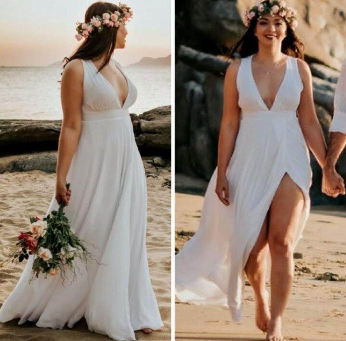 Vestido Para Ensaio Fotográfico De Pre Wedding