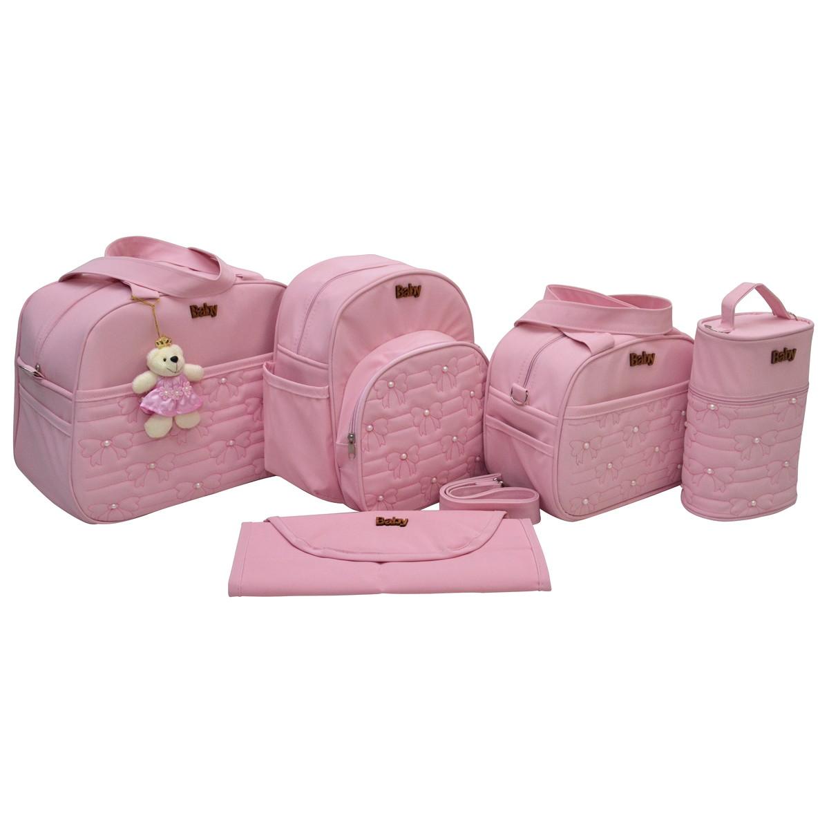 a89f27f10 Kit bolsa maternidade feminino 5 peças - LUXO no Elo7 | Baby Bolsas ...