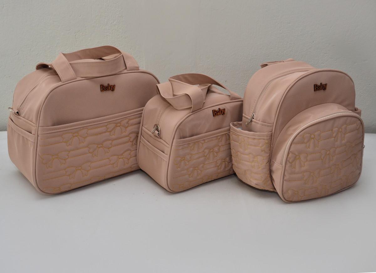 2a9410975 Kit bolsa maternidade feminino 3 peças - LUXO no Elo7 | Baby Bolsas ...