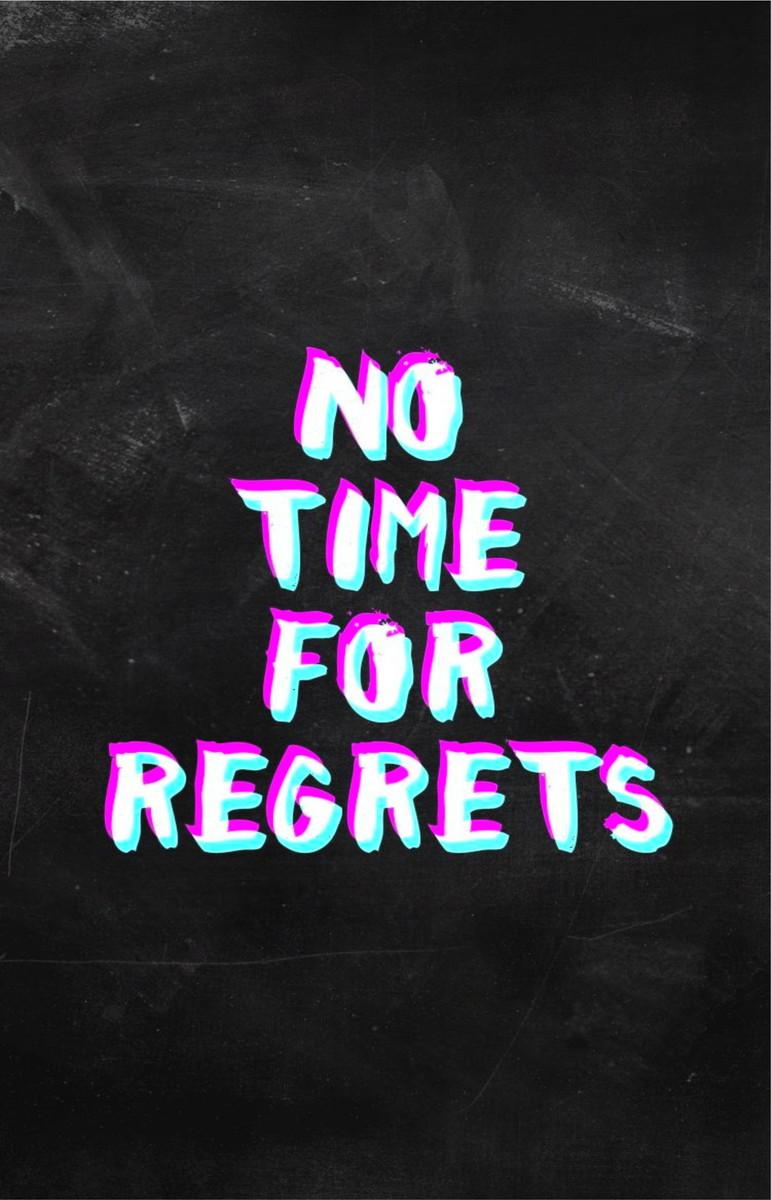 Adesivo Quadro Frase Inglês Motivacional No Time For Regrets