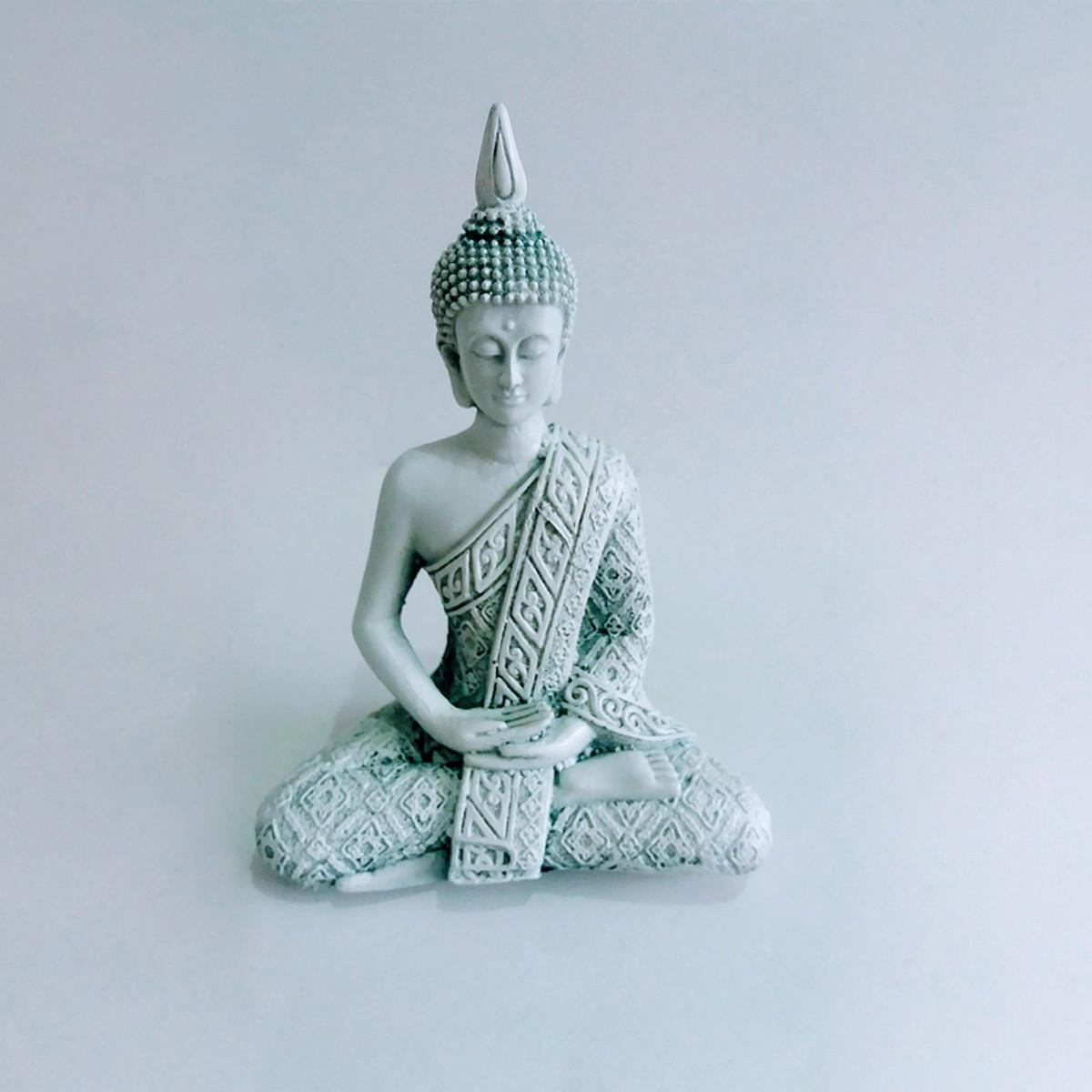 a2490bfe75 Estatueta Decorativa Buda Tibetano Branca no Elo7 | Loja Online ...