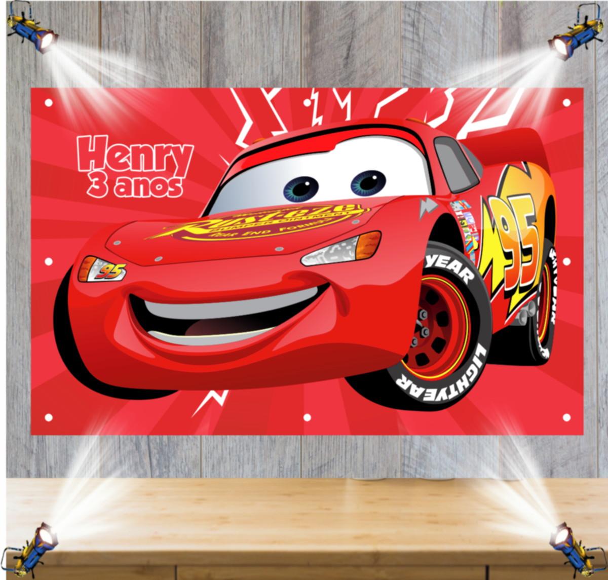 Painel 1 50x1 00mt Carros Mcqueen Relampago Mc Queen No Elo7